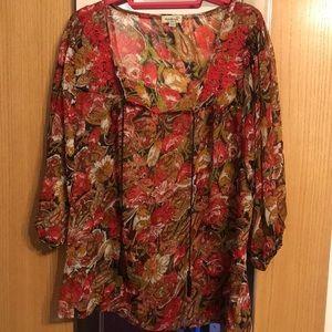 EUC One world size large blouse